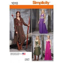 Frøken middelalderlige kostume Snitmønster simplicity 1010