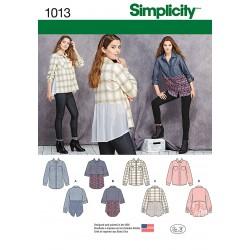 Stor skjorte 4 varianter Snitmønster