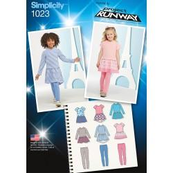 Pige kjole, tunika og leggins snitmønster
