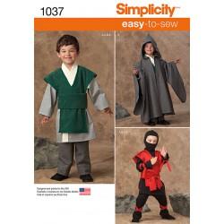 Drenge kostume Simplicity snitmønster 1037