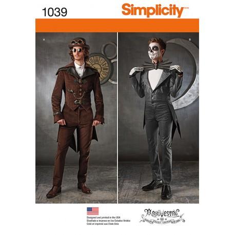 Herre kostume snitmønster Simplicity 1039