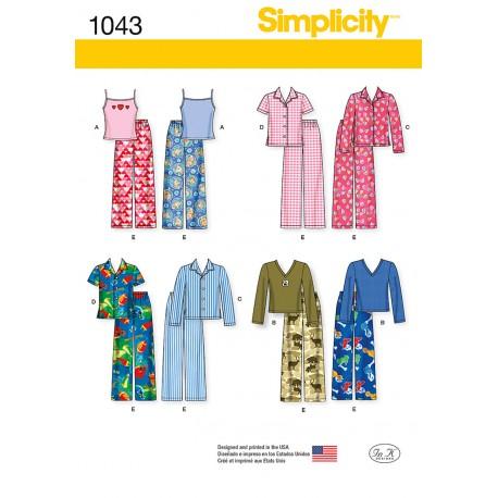 Børne tøj dreng/pige snitmønster simplicity 1043