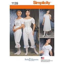 Historisk korrekt undertøj til kostume, kvinder snitmønstre