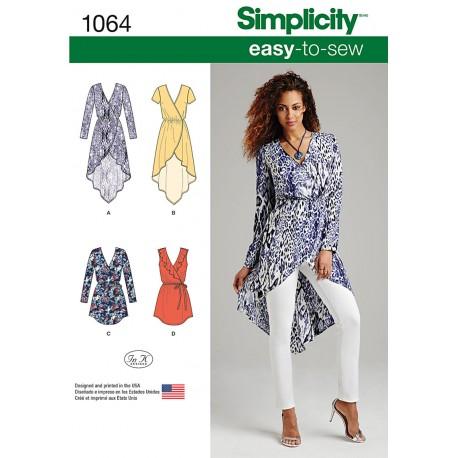 Tunika Snitmønster Simplicity 1064