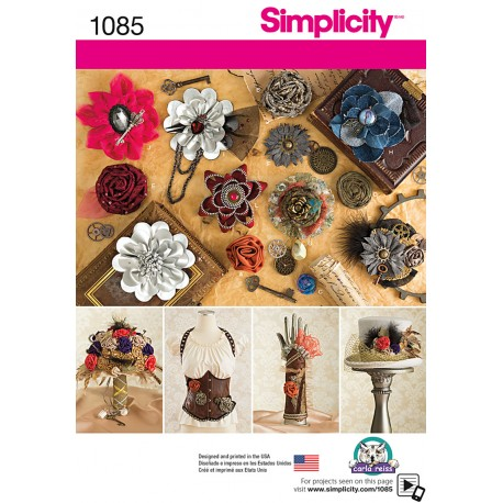 Blomster snitmønster Simplicity 1085