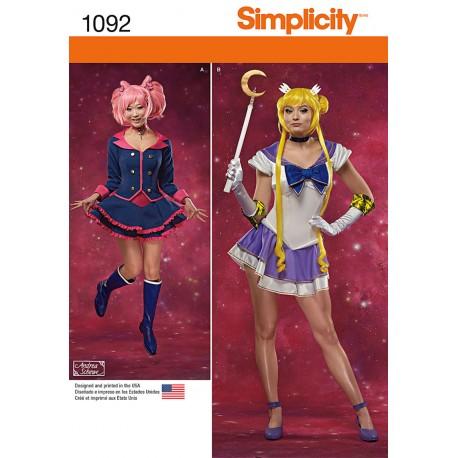 Kostume voksen Fantasi kostume snitmønster Simplicity 1092