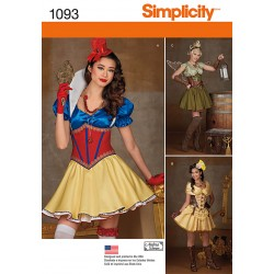 Fantasi prinsesse voksen kostume snitmønster Simplicity 1093