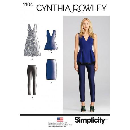 Kjole, nederdel og leggings Snitmønster Simplicity 1104