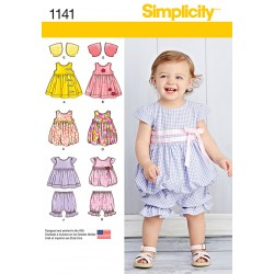 Kjole ,manelukker og bolero Babytøj snitmønster