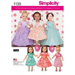 Dukketøj til 45,5 cm dukke kjoler og bolero snitmønster