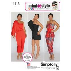 Jumpsuit snitmønster også plusmode MimiGstyle Simplicity 1115
