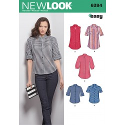 Skjortebluse 5 varianter snitmønster New look easy