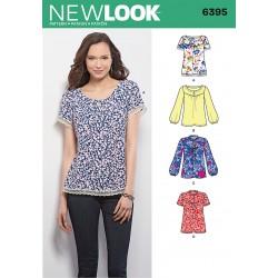 Bluse 4 varianter Snitmønster New Look 6395