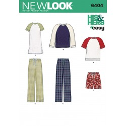 Til ham/hende unisex bukser og bluse snitmønster New Look easy