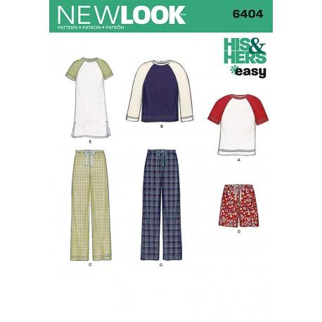 Til ham/hende unisex bukser og bluse snitmønster New Look easy 6404