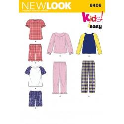 Nattøj og Pyjamas til børn Snitmønster New look easy