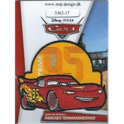 Cars McQueen Team 95 Broderet Strygemærke 6,5x7,5 cm
