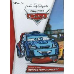 Cars Blå Broderet Strygemærke 6,5x4,5 cm