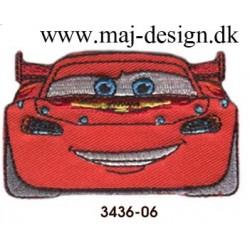 Cars McQueen Broderet Strygemærke 6x3,5 cm