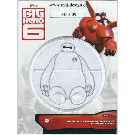 BIG HERO Baymax Broderet strygemærke Disney Ø 6cm