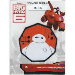 BIG HERO Baymax Broderet strygemærke Disney Ø 6,5 cm