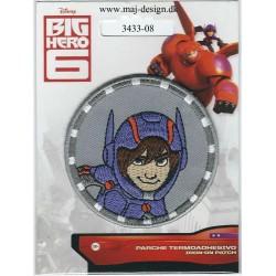 BIG HERO Hiro broderet strygemærke Disney Ø 6,5 cm