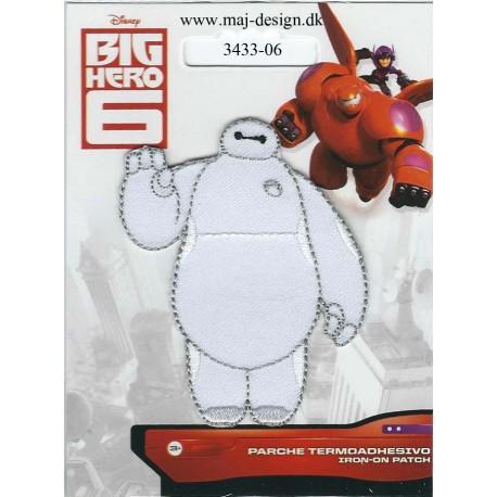 Big Hero Baymax Broderet strygemærke Disney 7x6 cm
