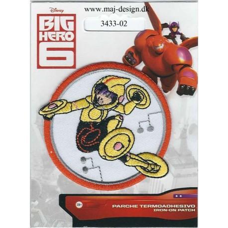 Big Hero GoGo Tamaro Broderet strygemærke Ø 6,5 cm