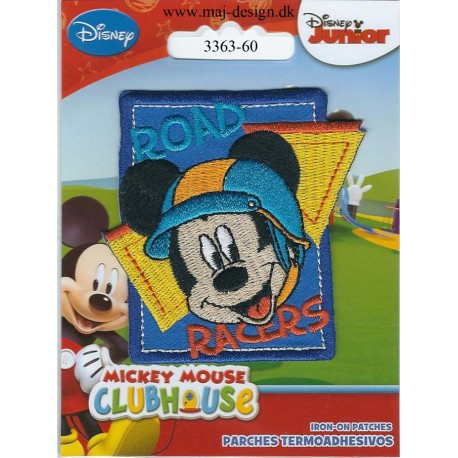 Mickey Mouse broderet strygemærke 7x6 cm