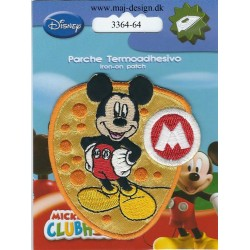 Mickey Mouse broderet strygemærke 7,5x7 cm