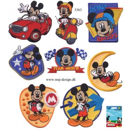 8 stk sæt med Mickey Mouse broderet Strygemærker