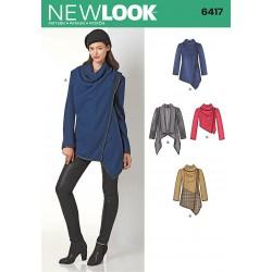 snitmønster til jakke med stor krave new look 6417