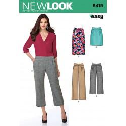 Nederdel og Bukser Snitmønster New Look easy