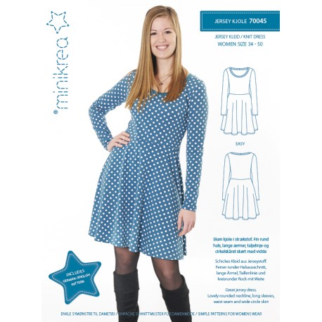 Jersey kjole Minikrea snitmønster 70045