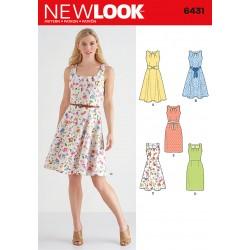 Kjole m/bælte New Look snitmønster