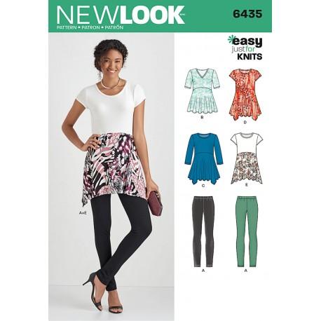 Tunika og Leggings New Look Snitmønster easy 6435
