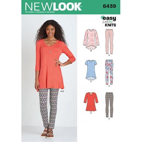 Tunika og Leggings Snitmønster New Look easy 6439