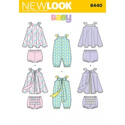 Babytøj Heldragt, kjole og Bloomers Snitmønster New Look 6440