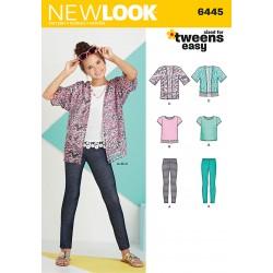 Kimono, leggings og Bluse Snitmønster New Look easy