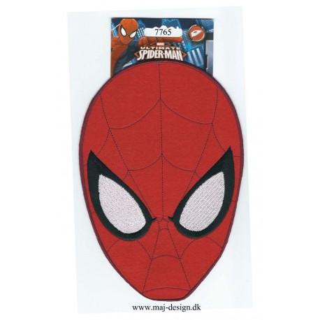 Kæmpe Spider-man strygemærke Maske Broderet
