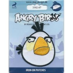 Angry Birds Hvid Broderet strygemærke 7x6 cm