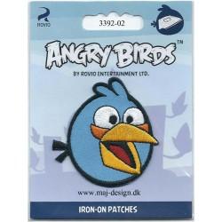 Angry Birds Lyseblå Broderet strygemærke