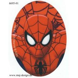 Spiderman Printet stryge lap oval 11x8 cm