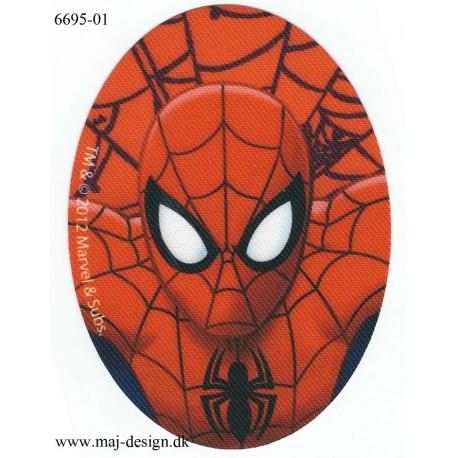 Spiderman Printet Strygemærke 11x8 cm