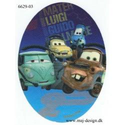 Cars Bumle Printet strygemærke 11x8 cm