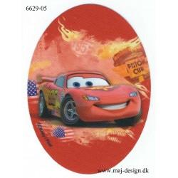 Cars McQueen Printet Strygemærke 11x8 cm
