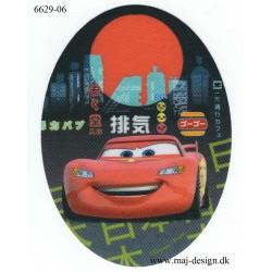 Cars McQueen Printet stryge lap oval 11x8 cm