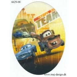 Cars Bumle Printet stryge lap oval 11x8 cm