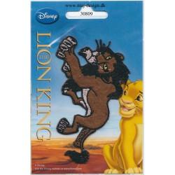 Scara Løvernes Konge strygemærke 10,5x6,5 cm