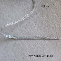 Sølv Elastik Flad 5mm